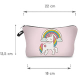 NEW! Cosmetic Pouch: Unicorns & Lollipops ~ Teal