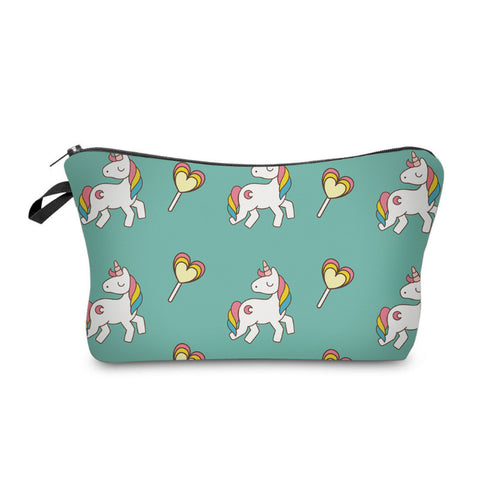 Cosmetic pouch: Unicorns & Lollipops ~ Teal 🦄 clearance
