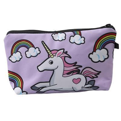 NEW! Cosmetic Pouch: Unicorn & Rainbows ~ Lavender