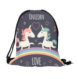 Drawstring Bag: Unicorn - Unicorn Love
