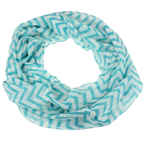 Infinity Scarf: Chevron - Turquoise 💖 clearance