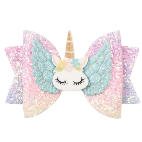 Hair Clip: Sleepy Unicorn