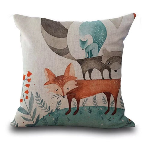 Décor: Throw Pillow Cover ~ Fox ~ Stand Up For Your Friends