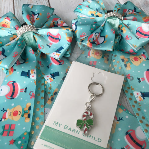 Bridle Charm & Show Bows BOGO: Christmas Friends ~ CLEARANCE!
