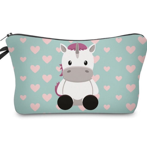 Cosmetic Pouch: Cuddley Unicorn