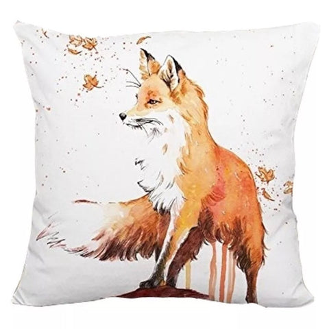 Décor: Throw Pillow Cover ~ Fox ~ Watercolor Autumn Breeze