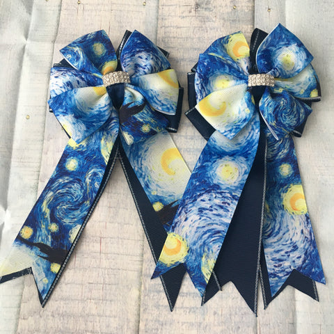*Show Bows: Van Gogh Starry Night ~ NEW