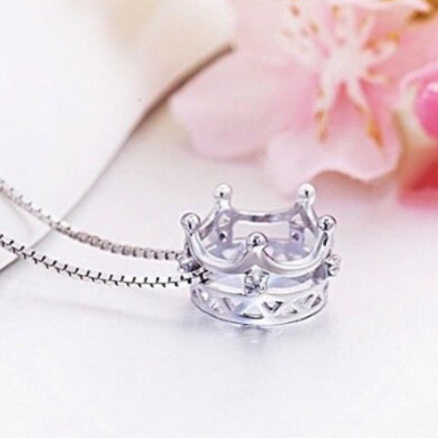 Necklace: Crown ~ Silver - Clearance