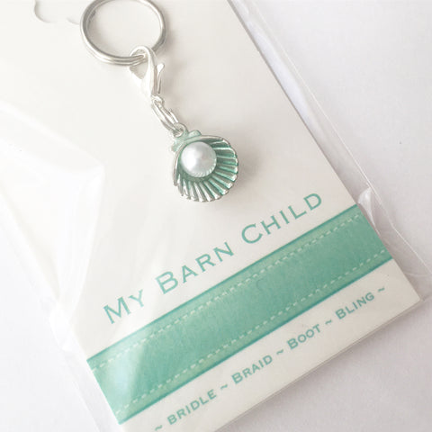 Bridle Charm: Pearl Shell ~ Mint 🐚