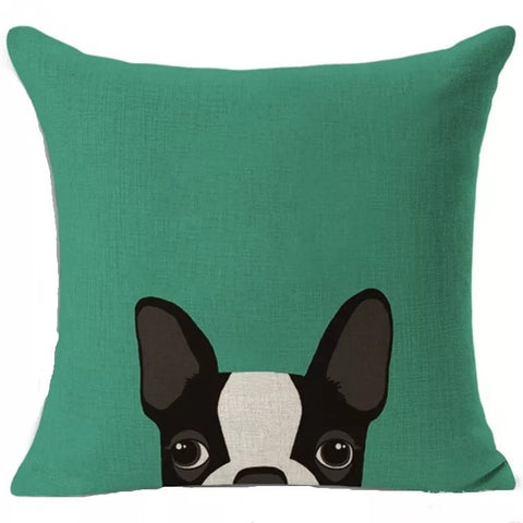 Décor: Throw Pillow Cover ~ Dog ~ Boston Terrier