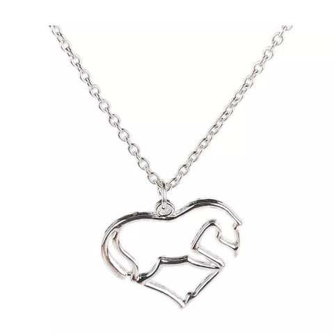 Necklace: Heart horse