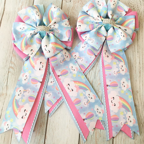 Show Bows: Happy Clouds/Rainbow ~ NEW