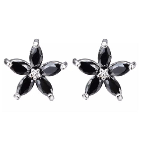 Earrings: Lily ~ Silver/Black 🖤 NEW!
