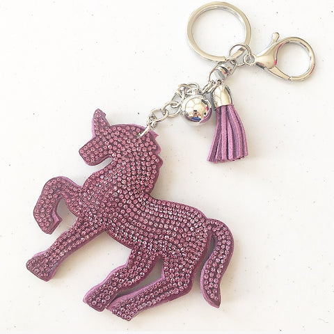 KeyChain / Bag Charm: Sparkle Unicorn ~ Lilac 🦄 NEW 🦄