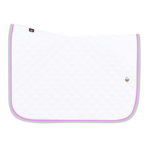 Saddlepad: Regular Size ~ White/Lavender/Gray