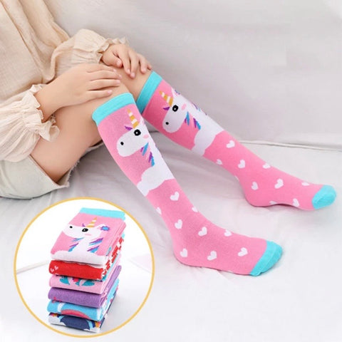 * Book Socks: Youth Girls ~ Unicorn Pink Hearts ~ NEW