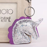 KeyChain / Bag Charm: Glitter Unicorn ~ Purple 💖 clearance