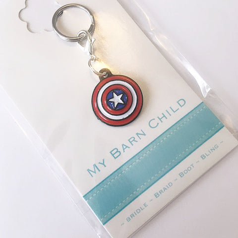 Bridle Charm: Superhero | Avengers ~ Captain America Shield 🇺🇸 NEW