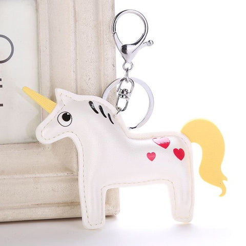 KeyChain / Bag Charm: Unicorn ~ Cuteycorn ~ White