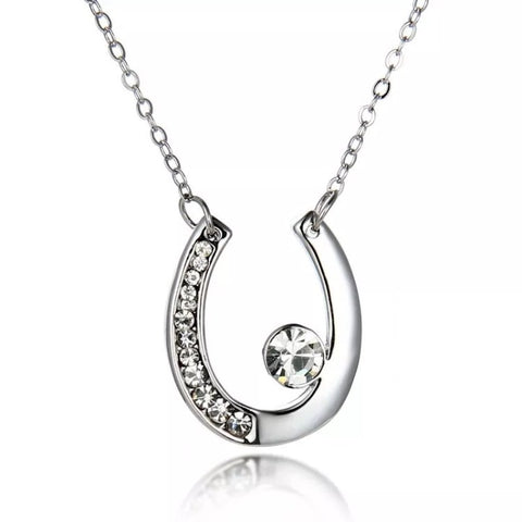 Necklace: Horseshoe with crystal