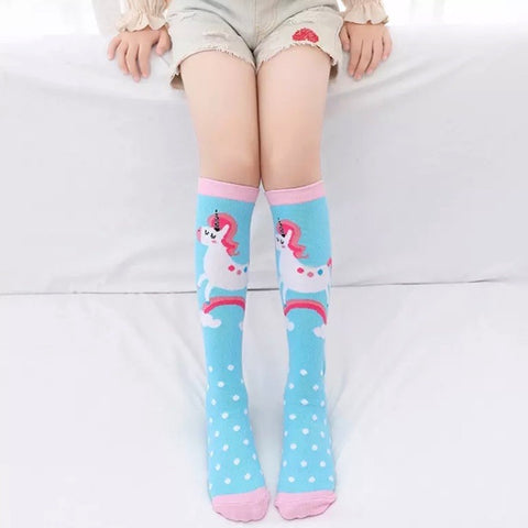 *Boot Socks: Youth Girls ~ Unicorns Blue Sky ~ NEW