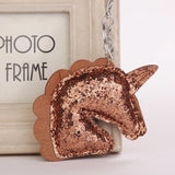 KeyChain / Bag Charm: Glitter Unicorn ~ Brown