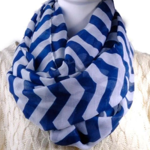 Infinity Scarf: Chevron - Blue CLEARANCE!