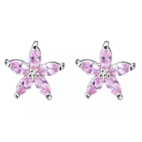 Earrings: Lily ~ Silver/Pink 💓 NEW!