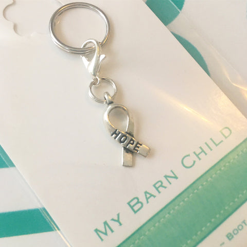 Bridle Charm: Inspirational ~ Hope Ribbon 🌟 NEW!
