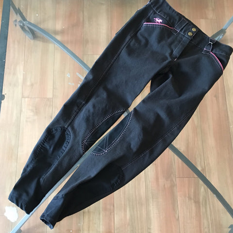 Eden's Closet: SmartPak Piper breeches size 24R Black/Pink