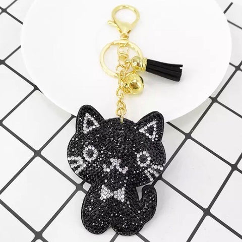 KeyChain / Bag Charm: Sparkle ~ Kitten ~ Black 🐱 NEW