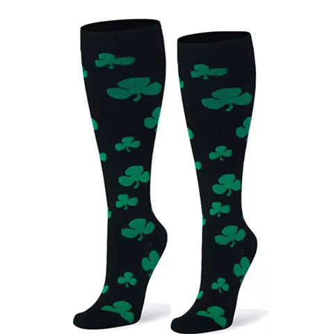Boot Socks: Clover ~ Black ☘️