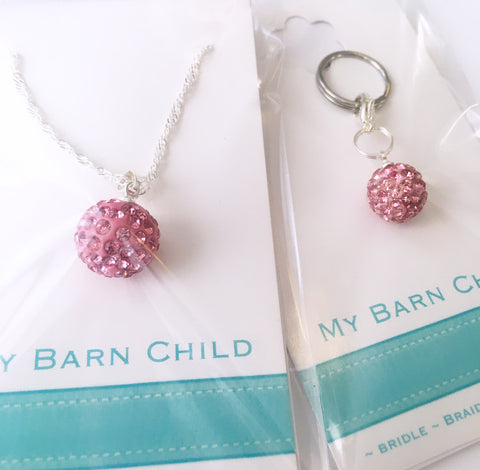 Bridle Charm & Necklace: BOGO ~ Match Your Pony ~ Pink