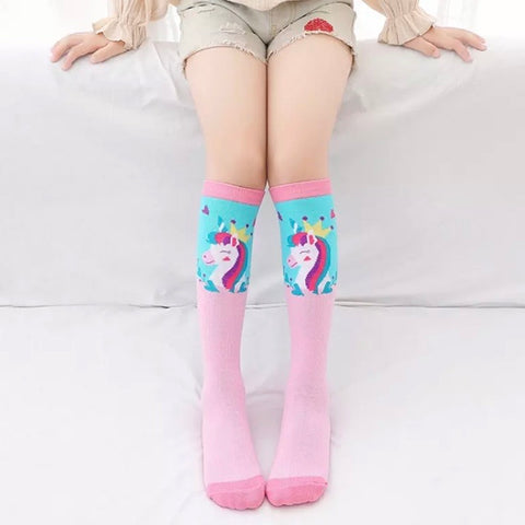 *Boot Socks: Youth Girls ~ Unicorn Princess ~ NEW