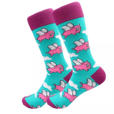 Crew Socks: When Pigs Fly 🐷✈️ NEW!