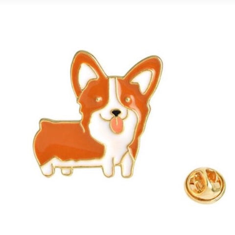 Stock Pin / Tie Tack / Lapel Pin: Red corgi