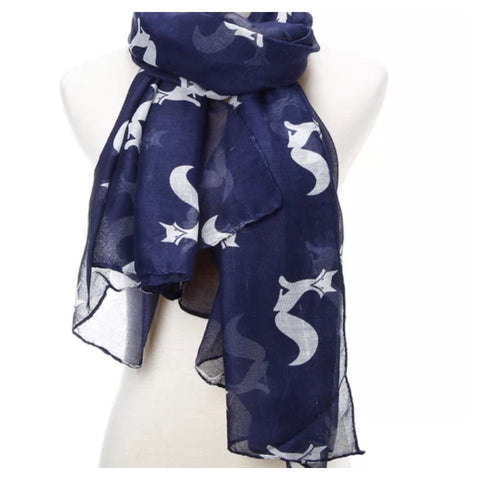 Scarf: Fox - Navy/White