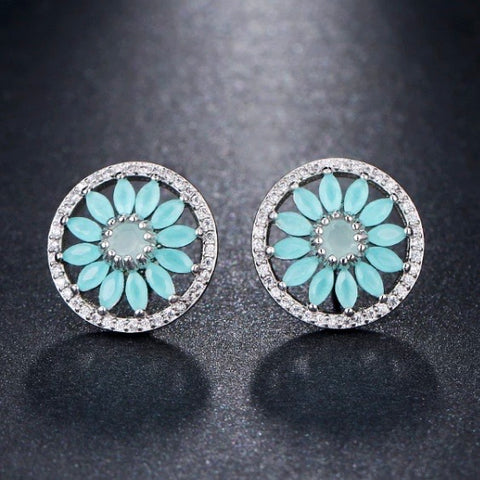 Earrings: Gerbera ~ Blue