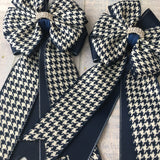 Show Bows: Houndstooth Navy/White ~ NEW!