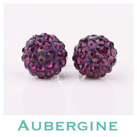 Earrings: Match Your Pony - Aubergine