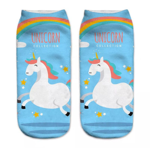 Ankle socks: Unicorn Collection
