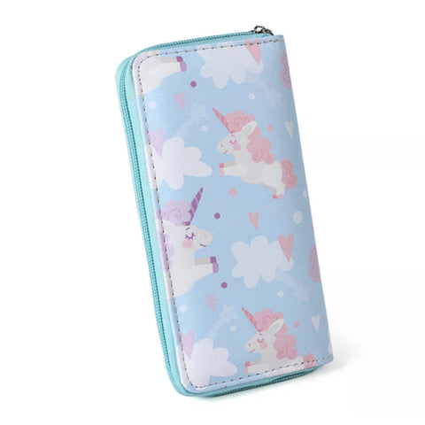 Wallet: Unicorns ~ Baby Blue