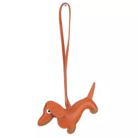 KeyChain / Bag Charm: Loopy Dog ~ Dachshund ~ Orange NEW!
