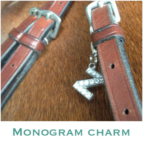 Charm: Monogram - Clear Crystals