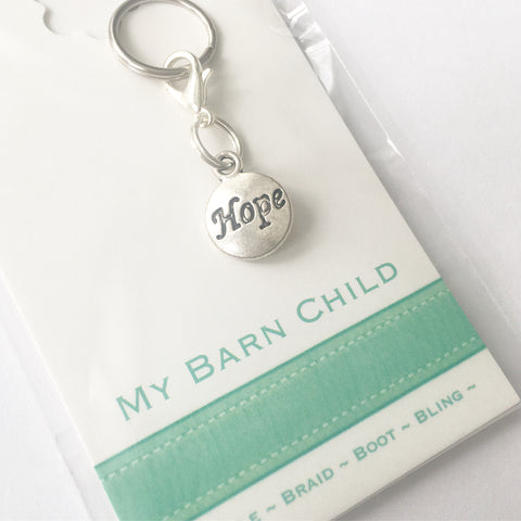 Bridle Charm: Inspirational ~ Hope (Round) 🌟 NEW!