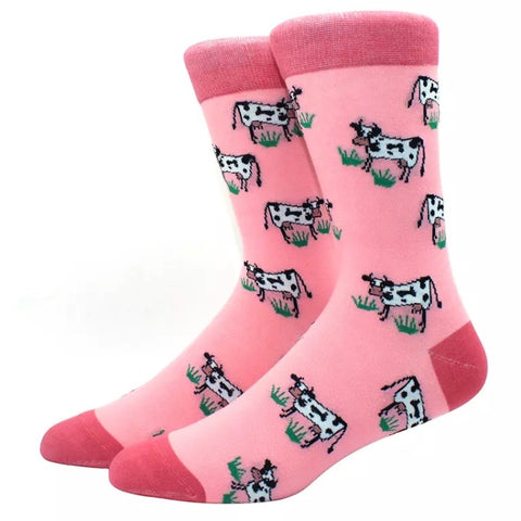 Crew Socks: Cows ~ Pink 🐮 NEW!