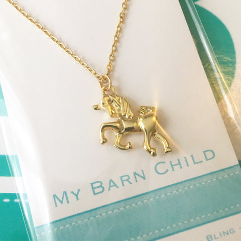 Necklace: Unicorn ~ Gold 🌟 NEW