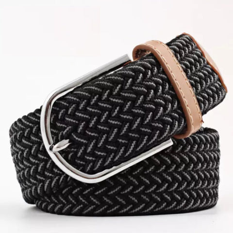 Belt: Comfy Stretchy ~ Black/Gray