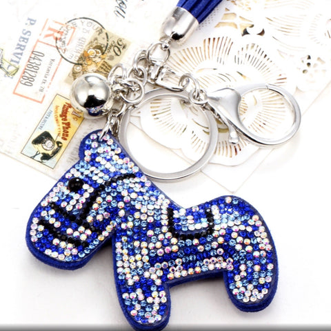 KeyChain / Bag Charm: Sparkle Pony ~ Blue