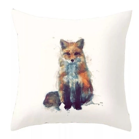 Décor: Throw Pillow Cover ~ Fox ~ Watercolour Sitting Fox